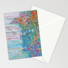 Tides of change (New beginnings) - original textured painting, prophetic art Stationery Cards