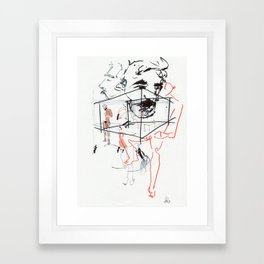 i can't tell dreams from truth Framed Art Print