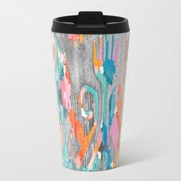 rainy day balinese ikat Travel Mug