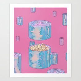 Rabbits are the energy Art Print