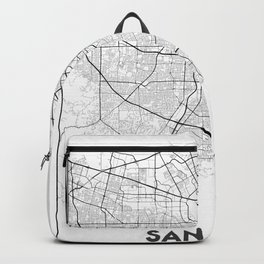 Minimal City Maps - Map Of San Jose, California, United States Backpack