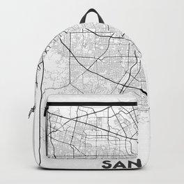 Minimal City Maps - Map Of San Jose, California, United States Backpack