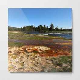 Firehole River Colors Metal Print