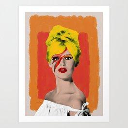 Brigitte Bowie Art Print