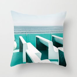 Empty Ocean Seats Throw Pillow