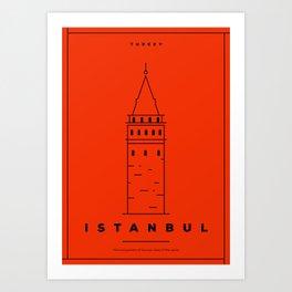 Minimal Istanbul City Poster Art Print