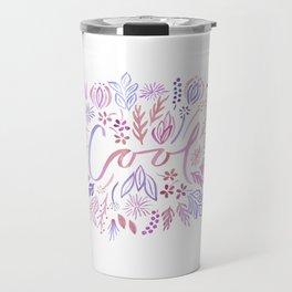 Cool Floral - Warm palette Travel Mug