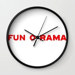 FUN O RAMA Wall Clock
