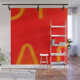 Red Neon Hall Wall Mural