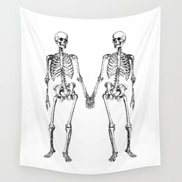 Two skeletons Wall Tapestry