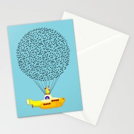 Musical Yellow Submarine Stationery Cards