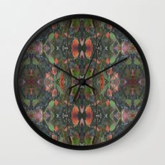 Fall Collage Wall Clock