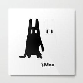 Broo and Moo Metal Print