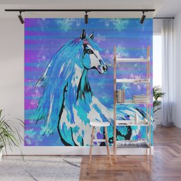 RIDE THE BLUE HORSE Wall Mural