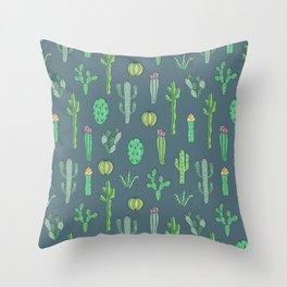 Cactus Pattern II Throw Pillow