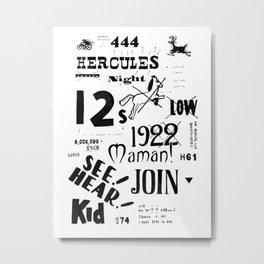 Hercules Night Metal Print