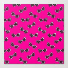 Diva Sunglasses-Pink Canvas Print
