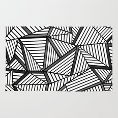 Ab Lines 2 Black and White Rug