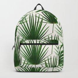 Simple Palm Leaf Geometry Backpack