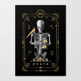 Death XIII Tarot Card Canvas Print