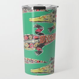 crocodile green Travel Mug