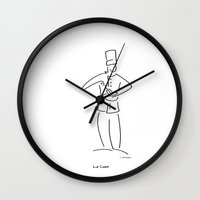 chef Wall Clocks featuring Le Chef - The Chef by Charlie Bowen