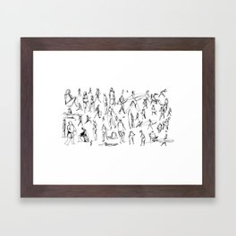 People Of the Beach : Short Sands, OR Framed Art Print