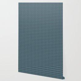 Christmas Winter Night Blue Tartan Check Plaid Wallpaper
