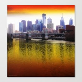 Philly Reflects Canvas Print
