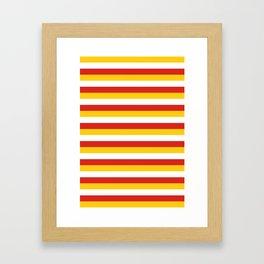 Bhutan dorset flag stripes Framed Art Print