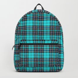 Lunchbox Blue Plaid Backpack