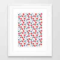 cherry Framed Art Prints featuring Cherry  by Babiole Design
