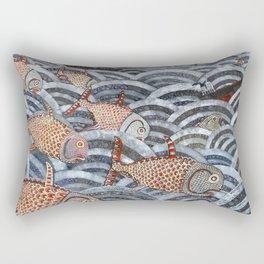 Golden Fishes Rectangular Pillow