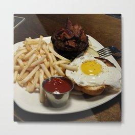 Food Series - breakfast, fries, egg, bacon Metal Print