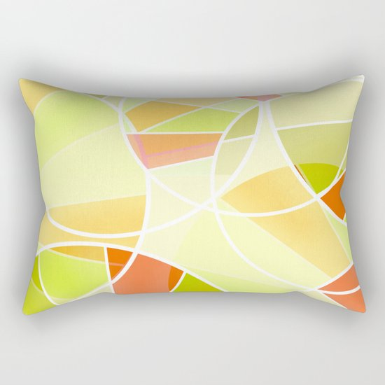 Yellow-red green summer pattern . Rectangular Pillow