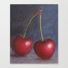 Cherries - Oil Painting Canvas Print