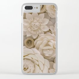 Paper Bouquet Clear iPhone Case