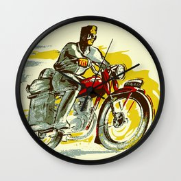 Retro vintage style FREEDOM motorcycle Wall Clock