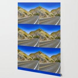 Highway Road Cutting through the Mountains in the Anza Borrego Desert, California, USA Wallpaper