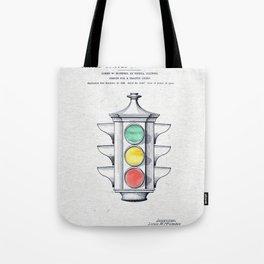 Traffic lights watercolor Tote Bag