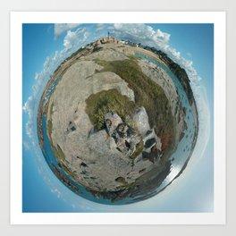 Terre Bleue Art Print