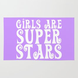 Girls are Super Stars - Purple Rug