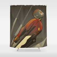 star lord Shower Curtains featuring The Star-Lord by Danny Haas