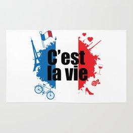 C'est La Vie. Bleu Blanc Rouge. Rug