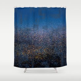 Downtown in Drizzle Shower Curtain