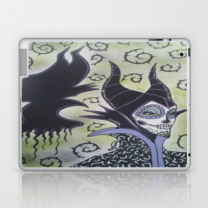 Maleficent Sugar Skull Laptop & iPad Skin