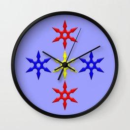 Shuriken Design version 2 Wall Clock