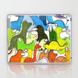 Rainbow Dinosaur Gradient Laptop & iPad Skin