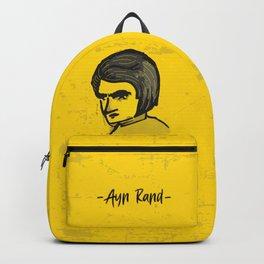 Ayn Rand Illustration Backpack