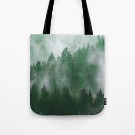 Clear life's mist to see beauty. Green Tote Bag